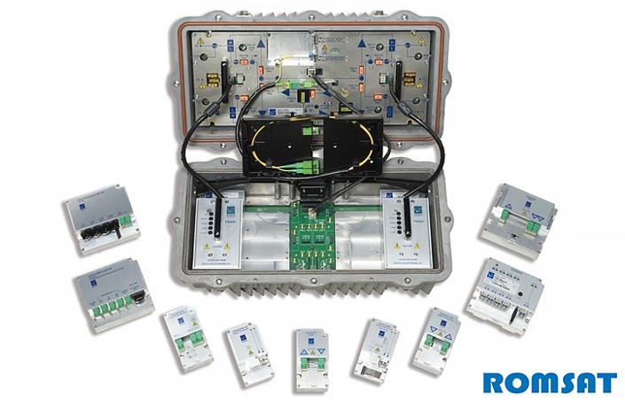 Большой оптический узел с резервированием и набором модулей | romsat.ua